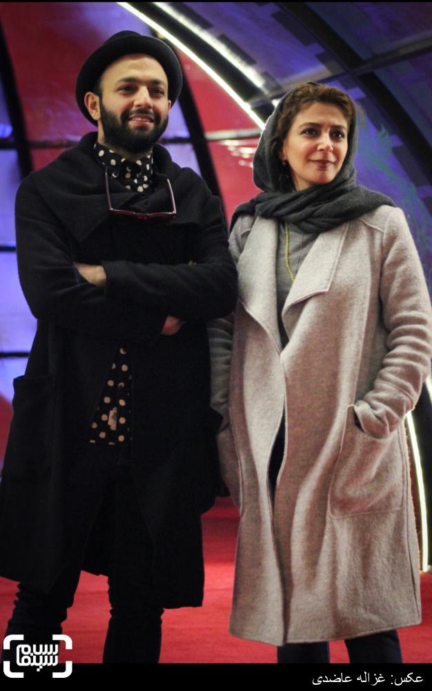 الهام کردا و صابر ابر در اکران فیلم «ابد و یک روز» در کاخ سی و چهارمین جشنواره فیلم فجر