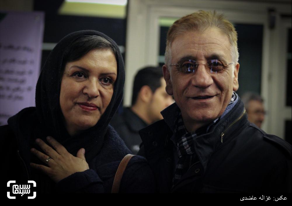 رویا تیموریان و مسعود رایگان در اکران فیلم «لانتوری» در کاخ سی و چهارمین جشنواره فیلم فجر