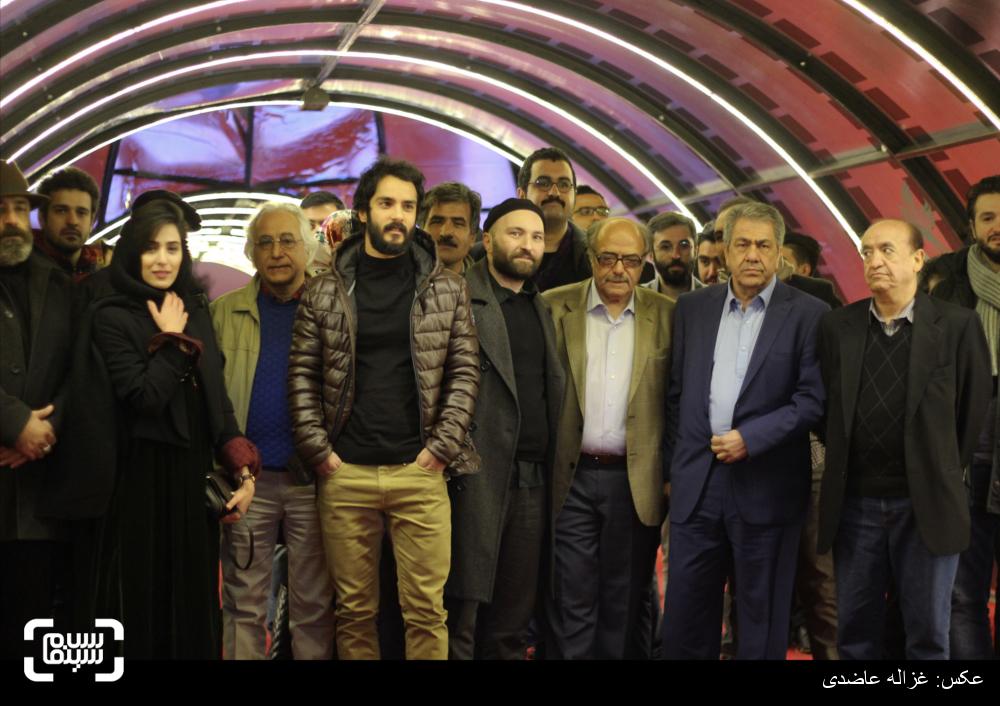 فرش قرمز فیلم «پل خواب» در کاخ سی و چهارمین جشنواره فیلم فجر