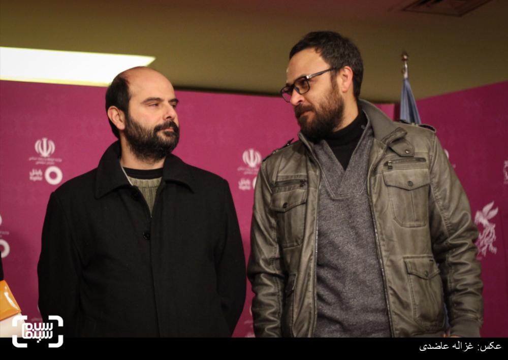 علیرضا کمالی و علی مصفا در اکران فیلم «خانهای در خیابان چهل و یکم» در  کاخ سی و چهارمین جشنواره فیلم فجر
