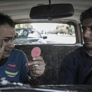 مهدی نصرتی و فرزین صابونی در نمایی از فیلم «دربست»