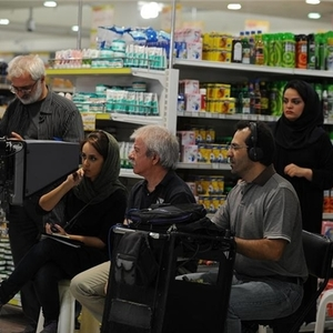 پشت صحنه فیلم گنجشکک اشی مشی با حضور مسعود کرامتی