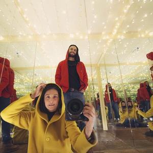 امیر جدیدی و هدیه تهرانی در پشت صحنه فیلم «پدیده»