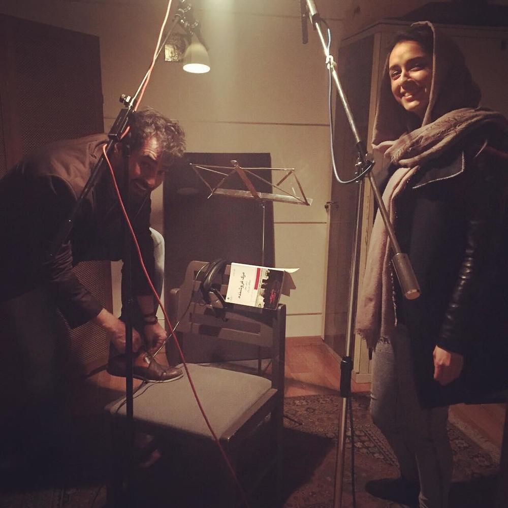 ترانه عليدوستى و شهاب حسینی در پشت صحنه «فروشنده»