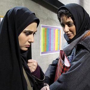 مهناز افشار و باران کوثری در نمایی از فیلم «قصه پریا»