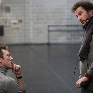 ونسان کسل و دارن آرونوفسکی در نمایی از پشت صحنه فیلم «قوی سیاه»(black swan)