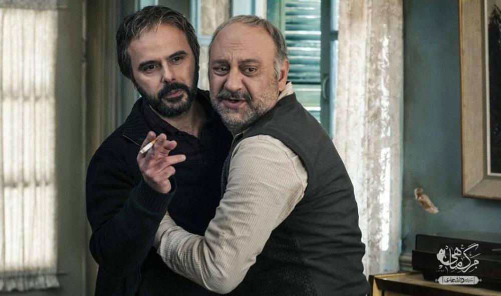 بابک کریمی و علی مصفا در نمایی از فیلم «مرگ ماهی»