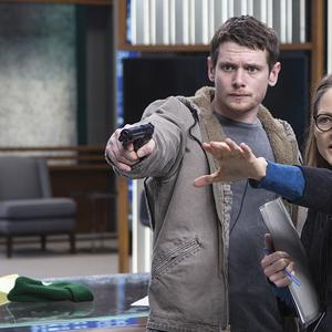 جودی فاستر و جک اوکانل در پشت صحنه فیلم «هیولای پول»(money monster)