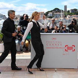 جولیا رابرتز و جرج کلونی در فتوکال فیلم «هیولای پول» در جشنواره فیلم کن 2016