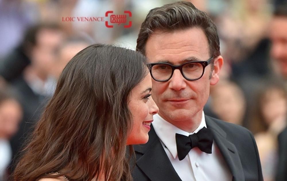 برنیس بژو و همسرش میشل آزاناویسوس در فرش قرمز فیلم «غول بزرگ مهربان»(BFG) در شصت و نهمین جشنواره فیلم کن
