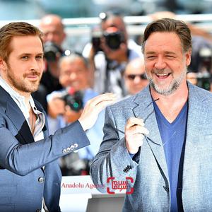 راسل کرو و رایان گاسلینگ در فتوکال فیلم «مردان خوب»(the nice guys) در شصت و نهمین جشنواره فیلم کن