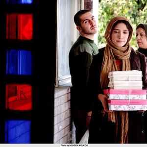 """رویا تیموریان, مینا ساداتی و محمدرضا غفاری در نمایی از فیلم سینمایی """" برف"""""""
