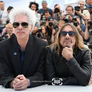 ایگی پاپ و جیم جارموش در فتوکال فیلم «به من خطر بده»(Gimme Danger) در شصت و نهمین جشنواره فیلم کن