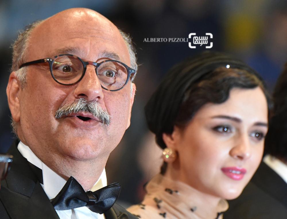 بابک کریمی و ترانه عليدوستى بر فرش قرمز فیلم «فروشنده» در شصت و نهمین جشنواره فیلم کن2016