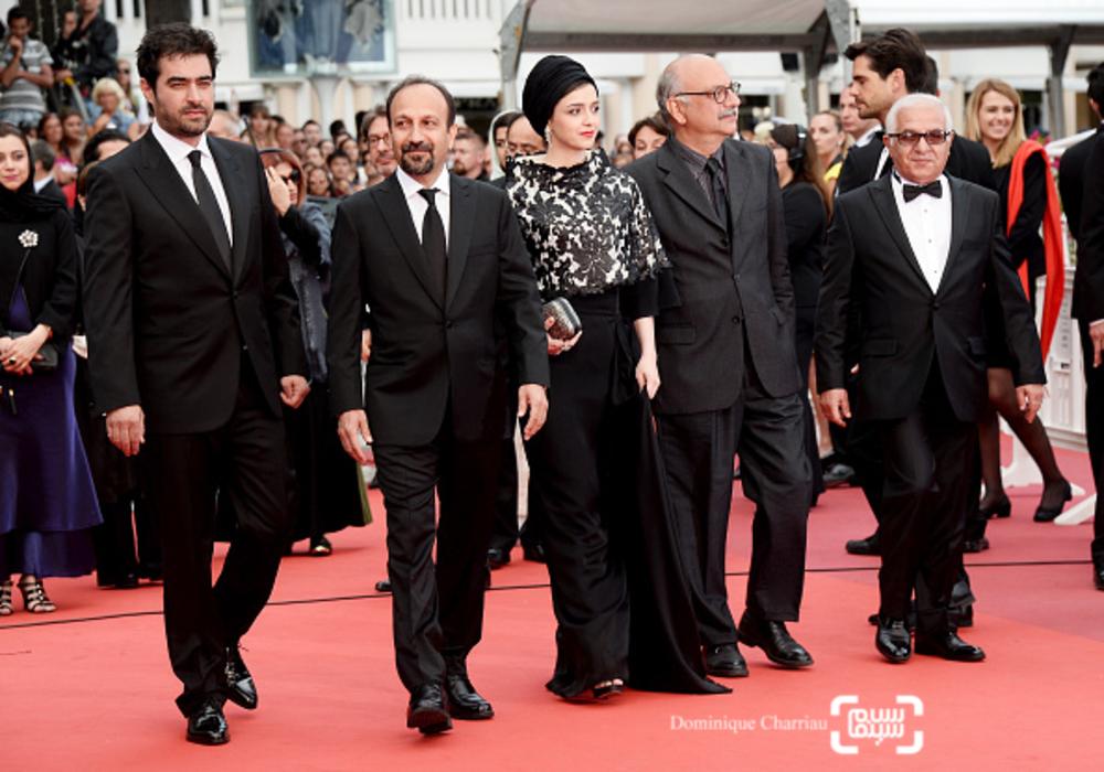 عوامل فیلم «فروشنده» اصغر فرهادی در اختتامیه شصت و نهمین جشنواره فیلم کن