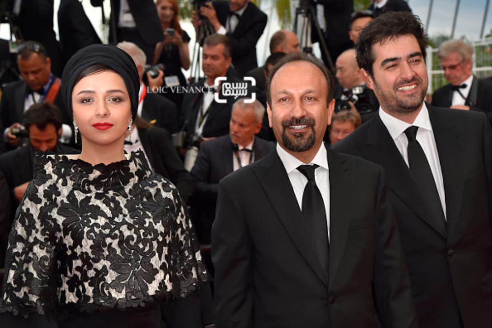 شهاب حسینی، اصغر فرهادی و ترانه علیدوستی در اختتامیه شصت و نهمین جشنواره فیلم کن