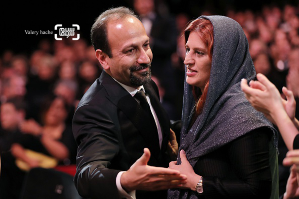 اصغر فرهادی و همسرش پریسا بخت آور در اختتامیه شصت و نهمین جشنواره فیلم کن