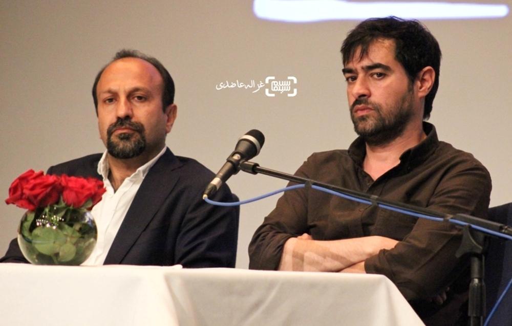 شهاب حسینی و اصغر فرهادی در نشست خبری فیلم فروشنده