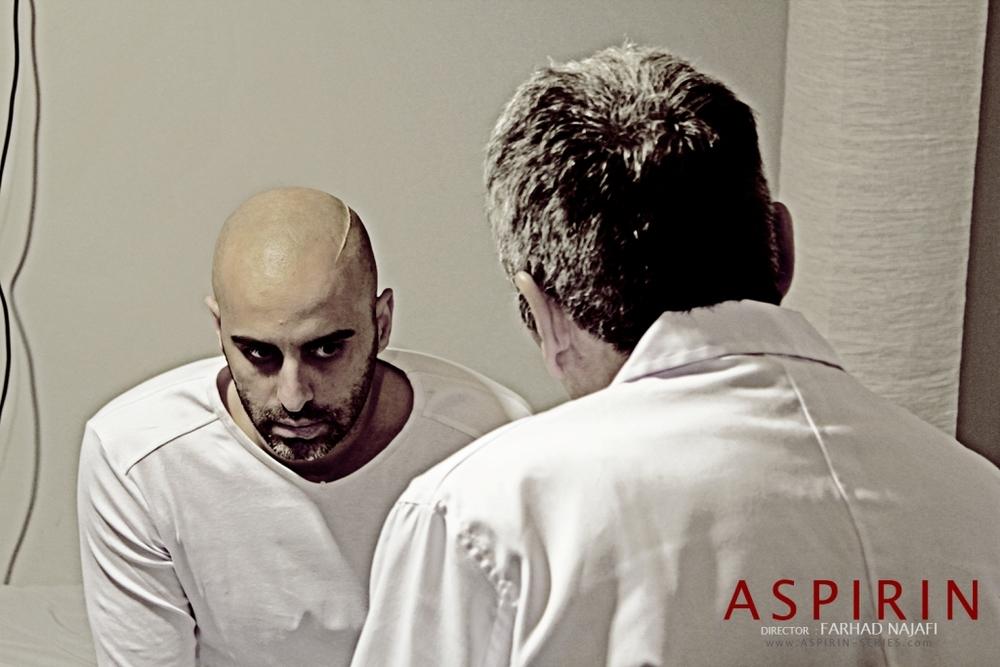 علیرام نوری در نمایی از سریال «آسپرین»