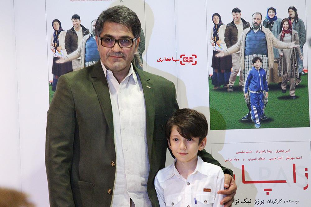 سید امیر پروین حسینی و ماهان نصیری در اکران خصوصی فیلم «زاپاس»