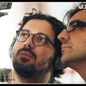 نیما جاویدی و هومن بهمنش در پشت صحنه فیلم ملبورن