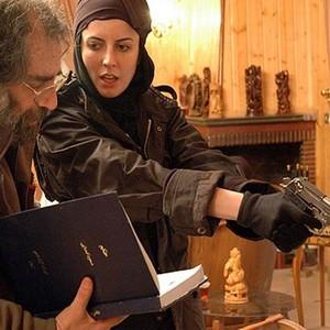 لیلا حاتمی و مسعود کیمیایی در پشت صحنه فیلم «حکم»