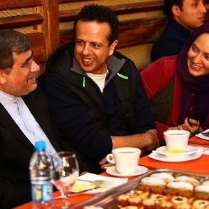 بازدید وزیرارشاد از پشت صحنه فیلم نهنگ عنبر به همراه سامان مقدم و مهناز افشار