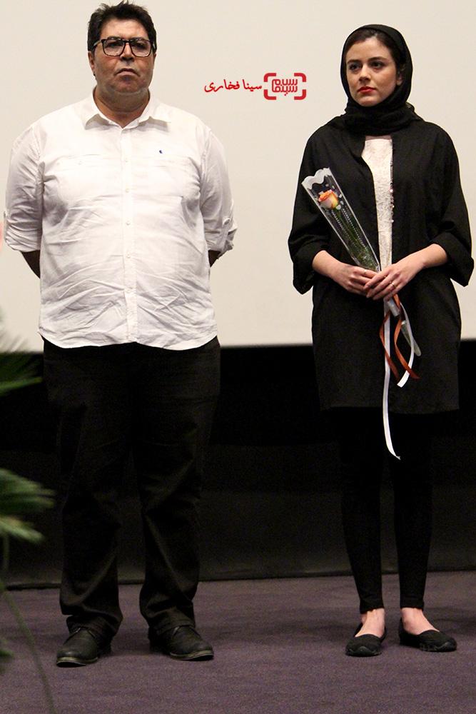 فرهاد اصلانی و ماهور الوند در مراسم اهدا جایزه جشنواره بین المللی مسکو فیلم دختر