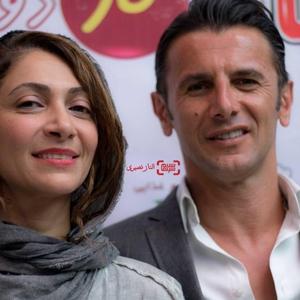 امین حیایی و همسرش نیلوفر خوش خلق در اکران خصوصی فیلم «ناردون»