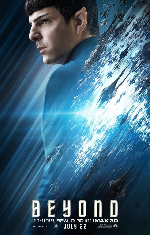 پوستر فیلم «ماورای پیشتازان فضا»(star trek beyond) با بازی زکری کوئینتو