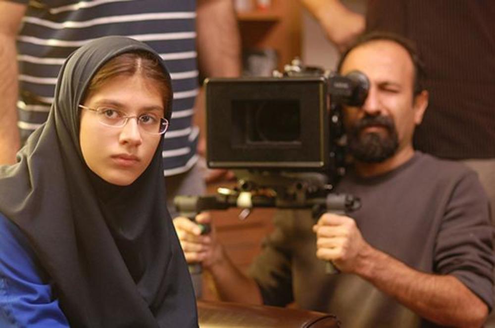 سارینا فرهادی در پشت صحنه فیلم «جدایی نادر از سیمین»