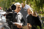 اصغر فرهادی و محمود کلاری در پشت صحنه فیلم «جدایی نادر از سیمین»