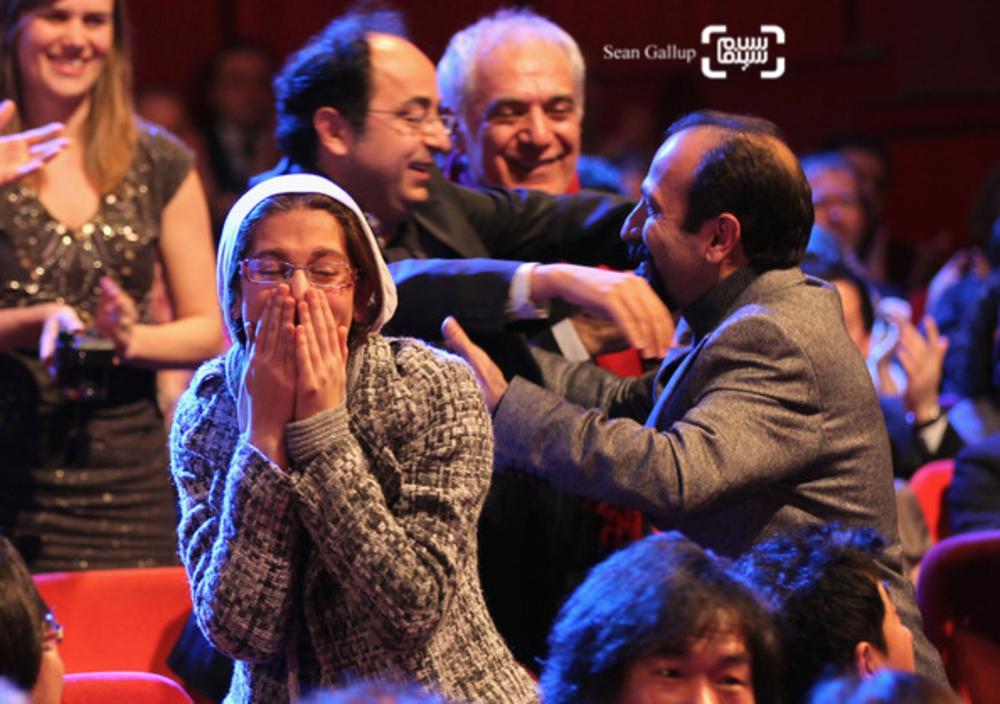 سارینا فرهادی در اختتامیه شصت و یکمین جشنواره فیلم برلین