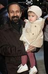 اصغر فرهادی و دخترش ساغر فرهادی در اختتامیه شصت و یکمین جشنواره فیلم برلین