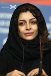 ساره بیات در نشست خبری فیلم «جدايي نادر از سیمین» در شصت و یکمین جشنواره فیلم برلین