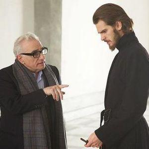اندرو گارفیلد و مارتین اسکورسیزی در پشت صحنه فیلم «سکوت»(Silent)