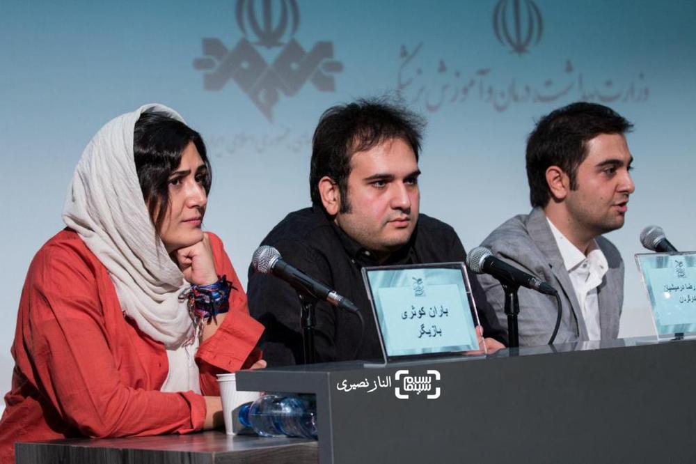 باران کوثری و رضا درمیشیان در نشست خبری فیلم سینمایی «لانتوری» در جشنواره فیلم سلامت