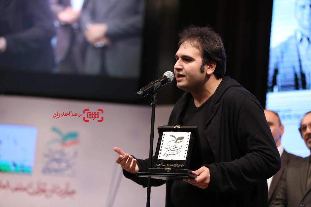 رضا درمیشیان برنده لوح زرین نخستین جشنواره فیلم سلامت برای فیلم لانتوری