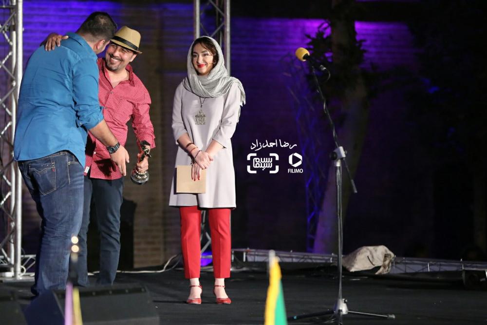 هانیه توسلی، رضا عطاران و محمد بدرلو در هجدهمین جشن خانه سینما