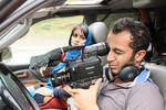 علی احمدزاده و پگاه آهنگرانی در پشت صحنه فیلم «مهمونی کامی»