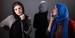 مینا ساداتی و پگاه آهنگرانی بازیگران فیلم «مهمونی کامی»