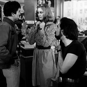 رابرت دینرو، سیبل شفرد و مارتین اسکورسیزی در پشت صحنه فیلم راننده تاکسی