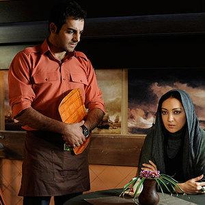 نیکی کریمی و حامد کمیلی در نمایی از فیلم شکلات داغ