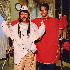 پوریا پورسرخ و مهران غفوریان در نمایی از فیلم شیر و عسل