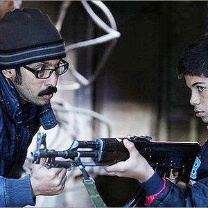 علیرضا بالدی و امیرحسین عسگری در پشت صحنه فیلم بدون مرز