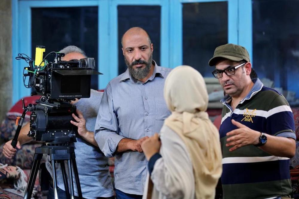 مهدی کرم پور و امیر جعفری در پشت صحنه فیلم «سوفی و دیوانه»