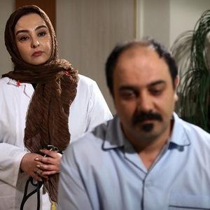 ماهایا پطروسیان و برزو ارجمند در فیلم مجرد چهل ساله