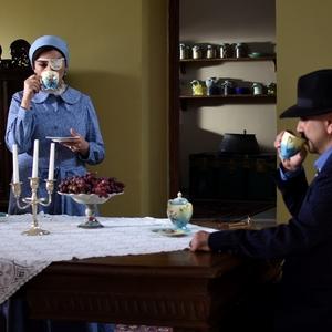 هنگامه قاضیانی در نمایی از فیلم «یک قناری یک کلاغ» اولین ساخته اصغر عبداللهی
