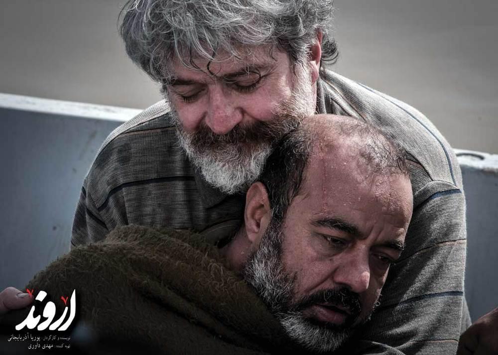اميد روحانى و سعيد آقاخانى در نمایی از فیلم «اروند»
