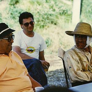 مارتین اسکورسیزی و  آکیرا کوروساوا در پشت صنه فیلم «رویاها»(Dreams)